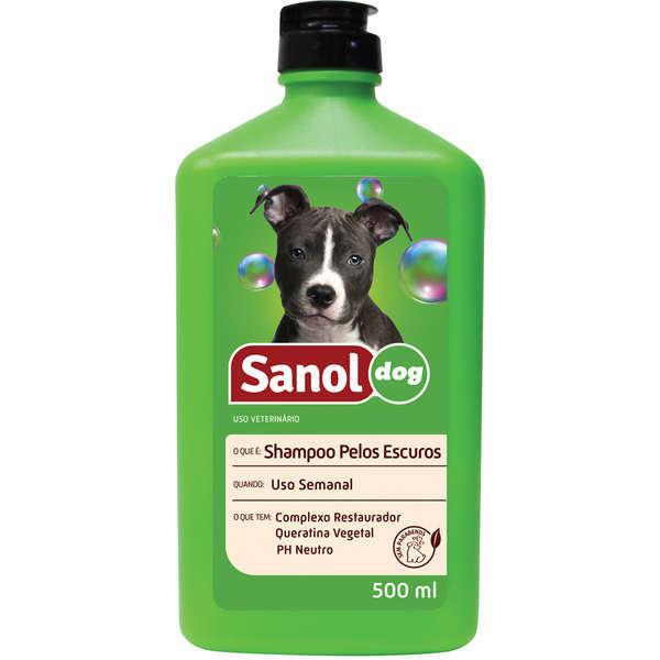 Shampoo sanol pelos escuros 500ml