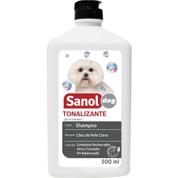 Shampoo sanol tonalizante pelos claros 500ml
