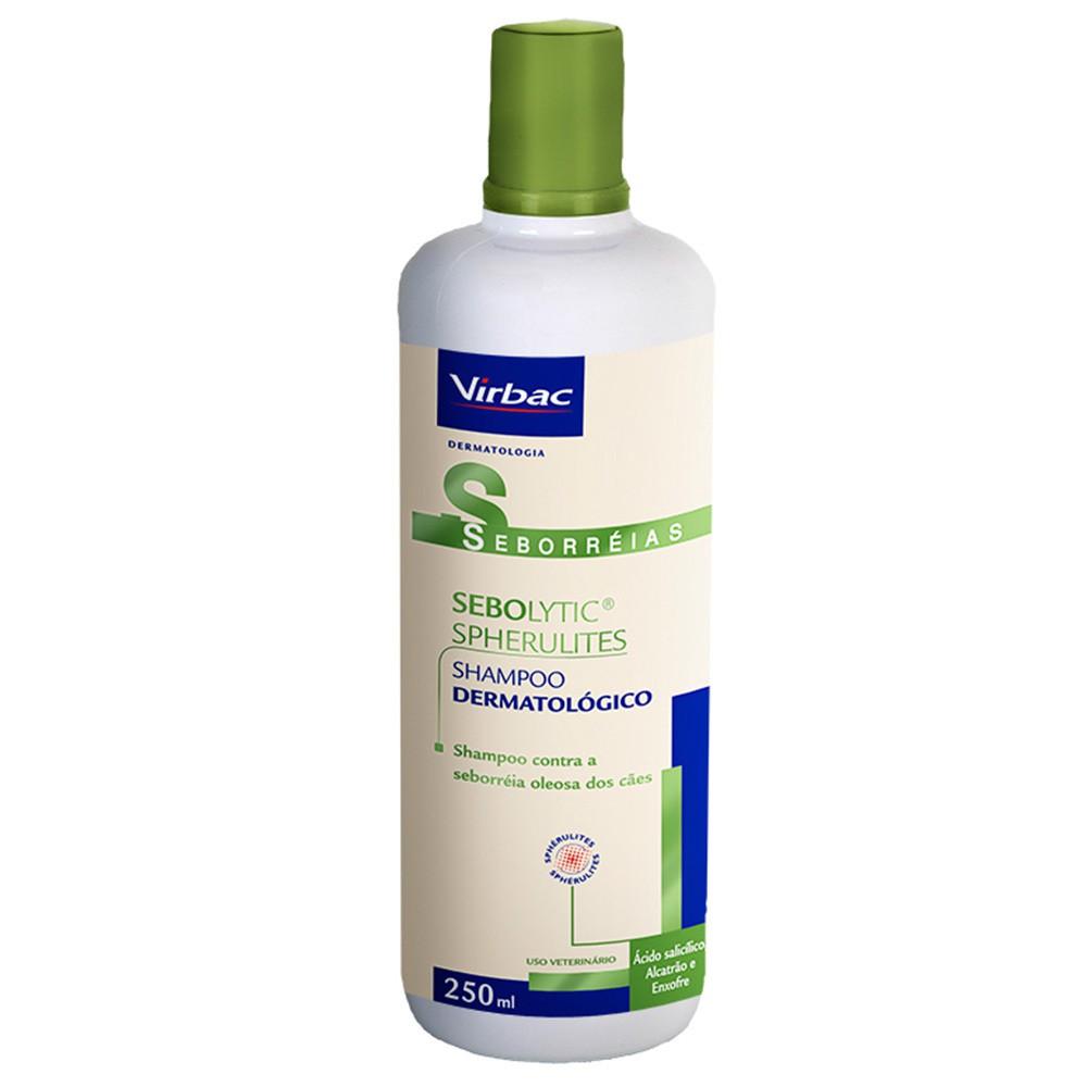Shampoo virbac sebolytic spherulites para seborreia 250ml