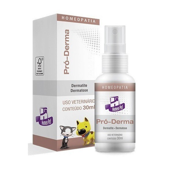 Sistema de terapia real h homeo pet pró-derma 30ml para cães e gatos