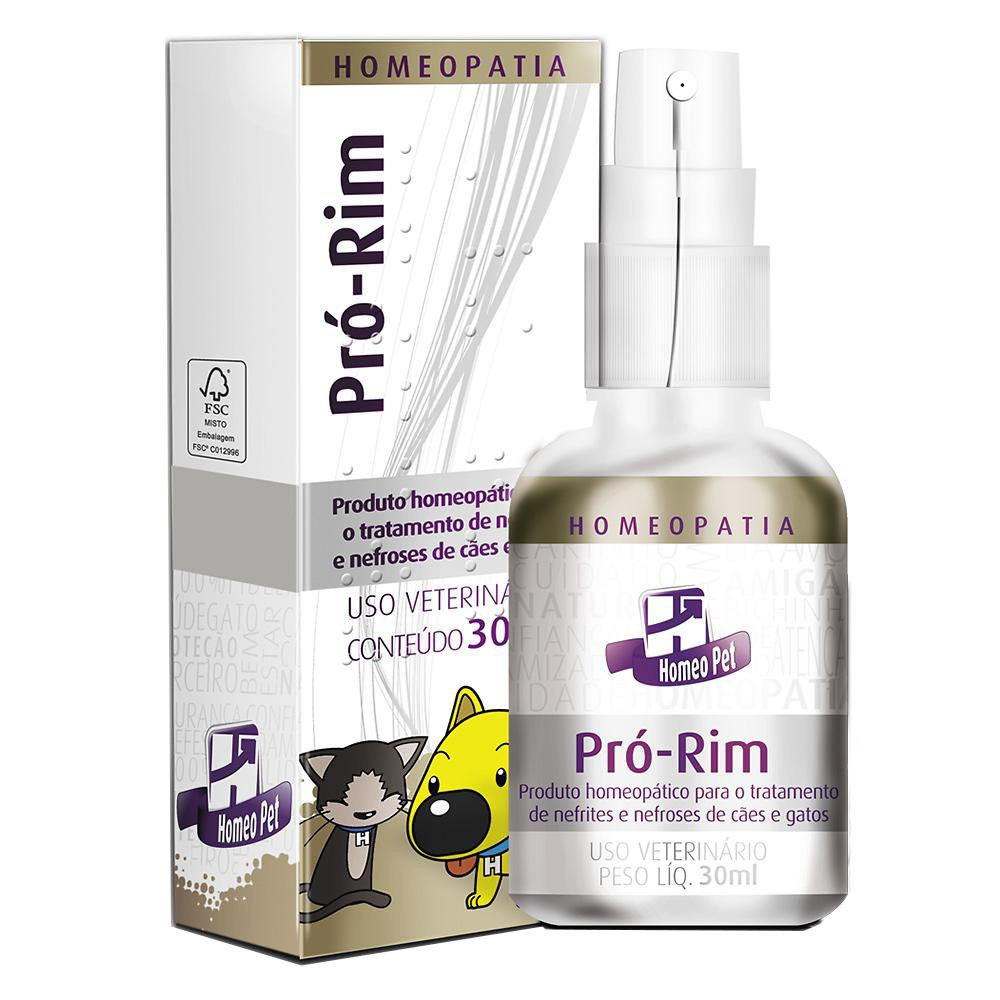 Sistema de terapia real h homeo pet pro-rim 30ml para cães e gatos