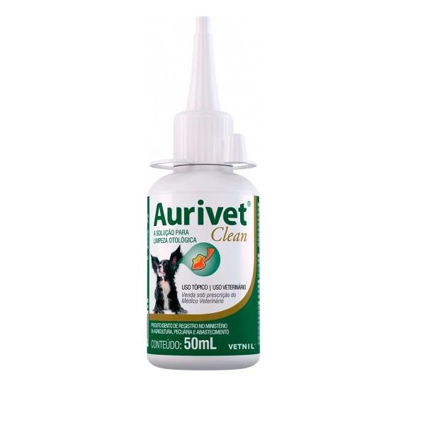 Solução de limpeza otológica vetnil aurivet clean