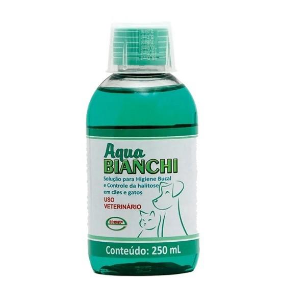 Solução ecovet para higiene bucal aqua bianchi 250ml