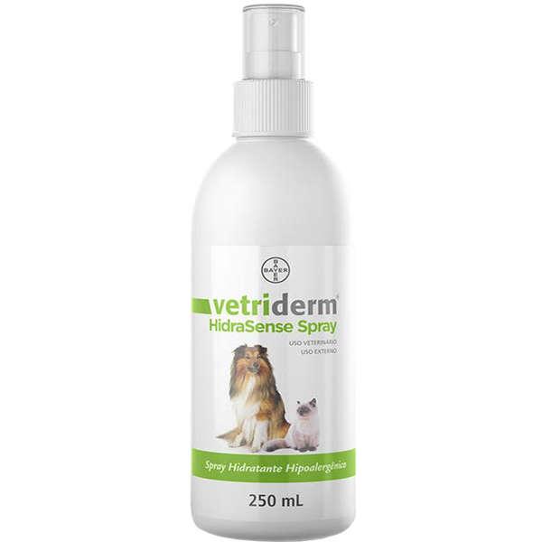 Spray Bayer Hidratante Vetriderm Hipoalergênico HidraSense 250ml para Cães e Gatos