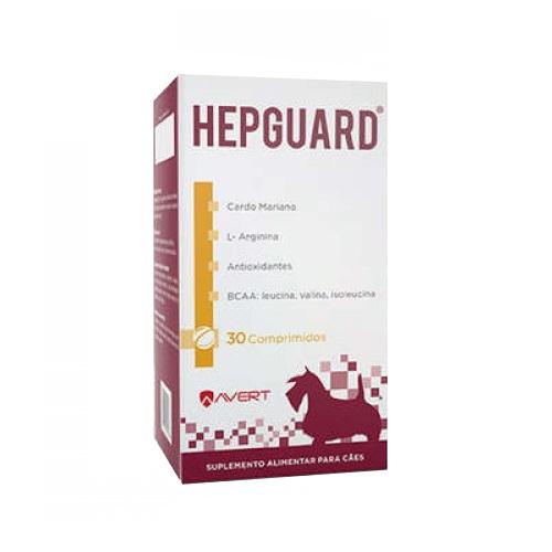 Suplemento alimentar avert hepguard para cães com 30 comprimidos
