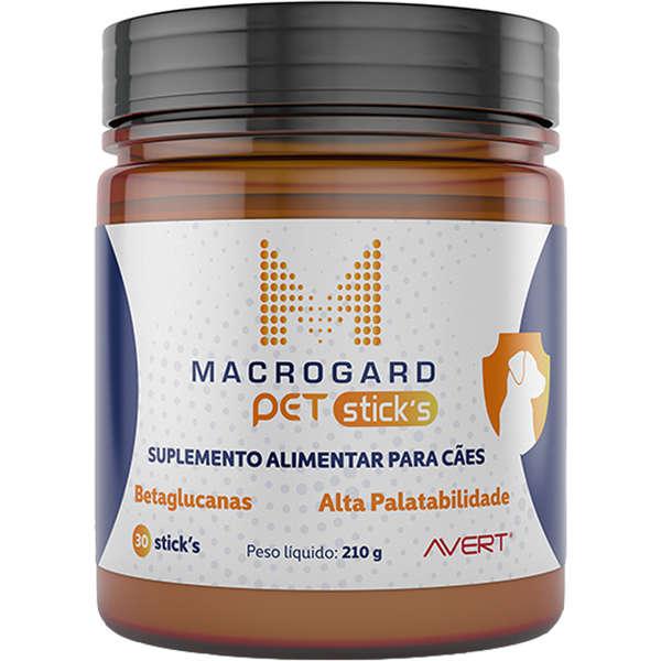 Suplemento Alimentar Avert Macrogard Pet Sticks para caes