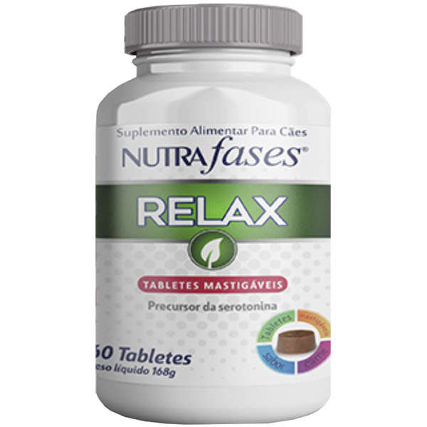Suplemento Alimentar Nutrafases Relax 60 tabletes para cães