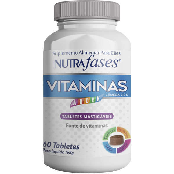 Suplemento Alimentar Nutrafases Vitaminas 60 tabletes para cães