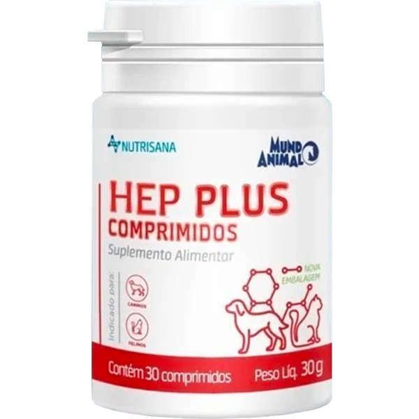 Suplemento alimentar nutrisana hep plus com 30 comprimidos