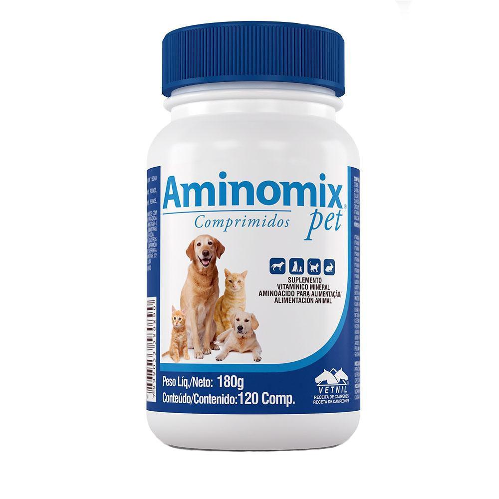Suplemento alimentar vetnil aminomix pet com 120 comprimidos
