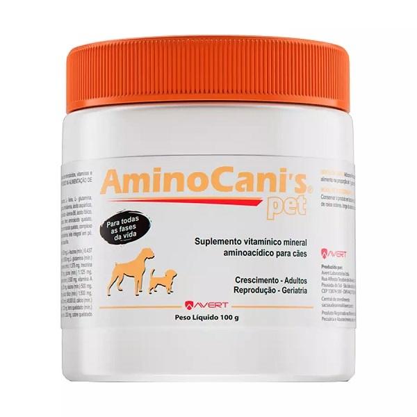 Suplemento avert aminocanis pet 100g