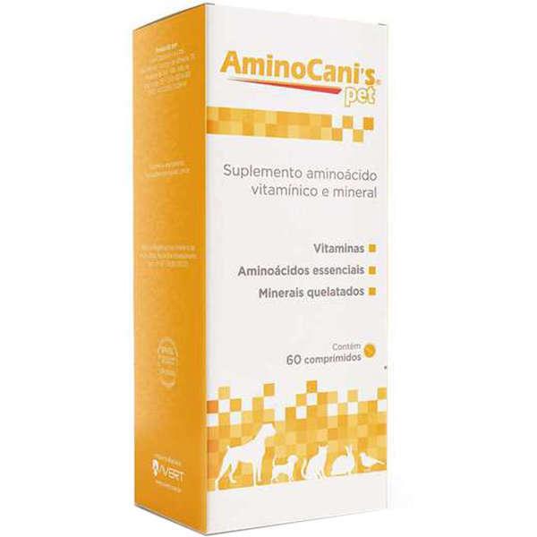 Suplemento avert aminocanis pet 60 comprimidos
