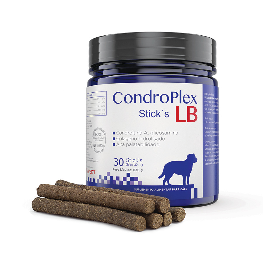 Suplemento avert condroplex lb stick´s para cães com 30 bastões