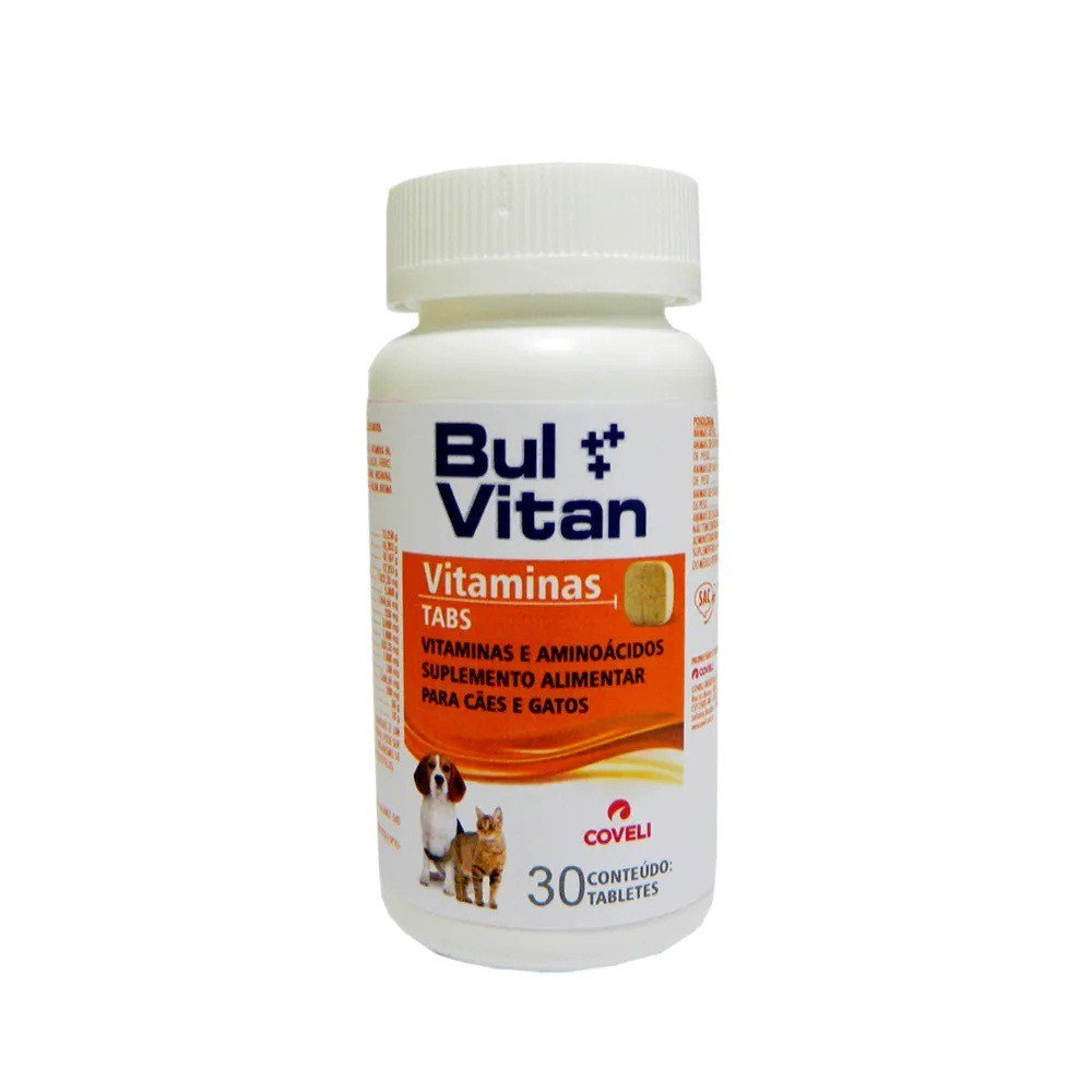 Suplemento coveli bulvitan tabs com 30 tabletes