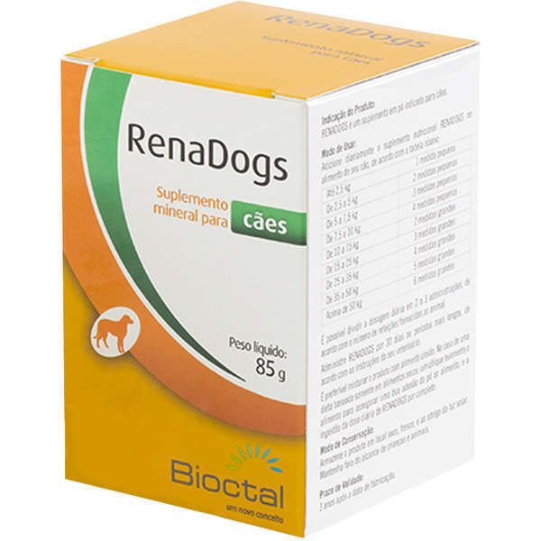 Suplemento mineral candioli renadogs tratamento renal 85g