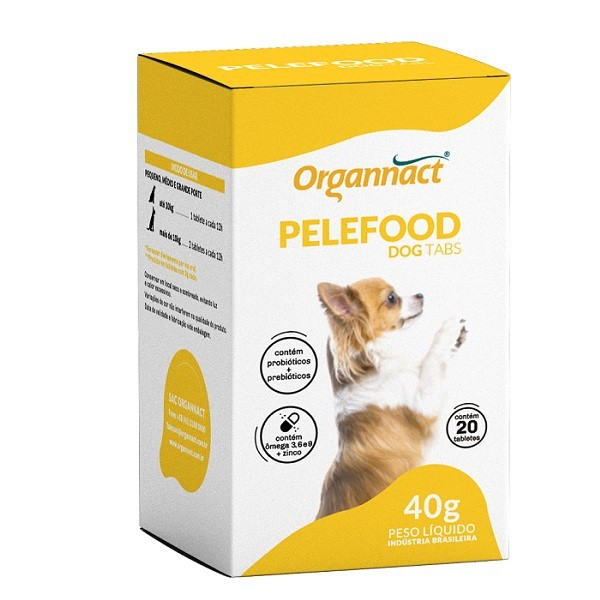 Suplemento mineral organnact pelefood dog tabs 40g
