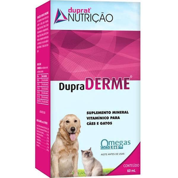 Suplemento mineral vitamínico dupraderme para cães e gatos 60ml