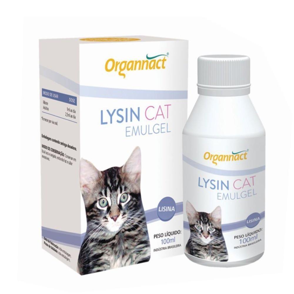 Suplemento organnact cat lysin emugel 100ml