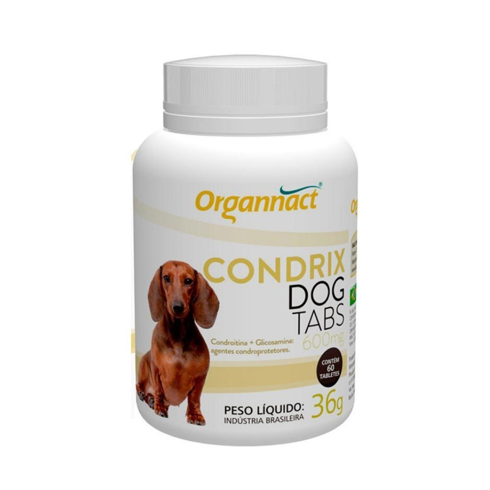 Suplemento organnact condrix dog tabs 600mg com 60 tabletes