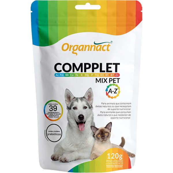 Suplemento Organnact Vitamínico Compplet Mix Pet A-Z para Cães e Gatos