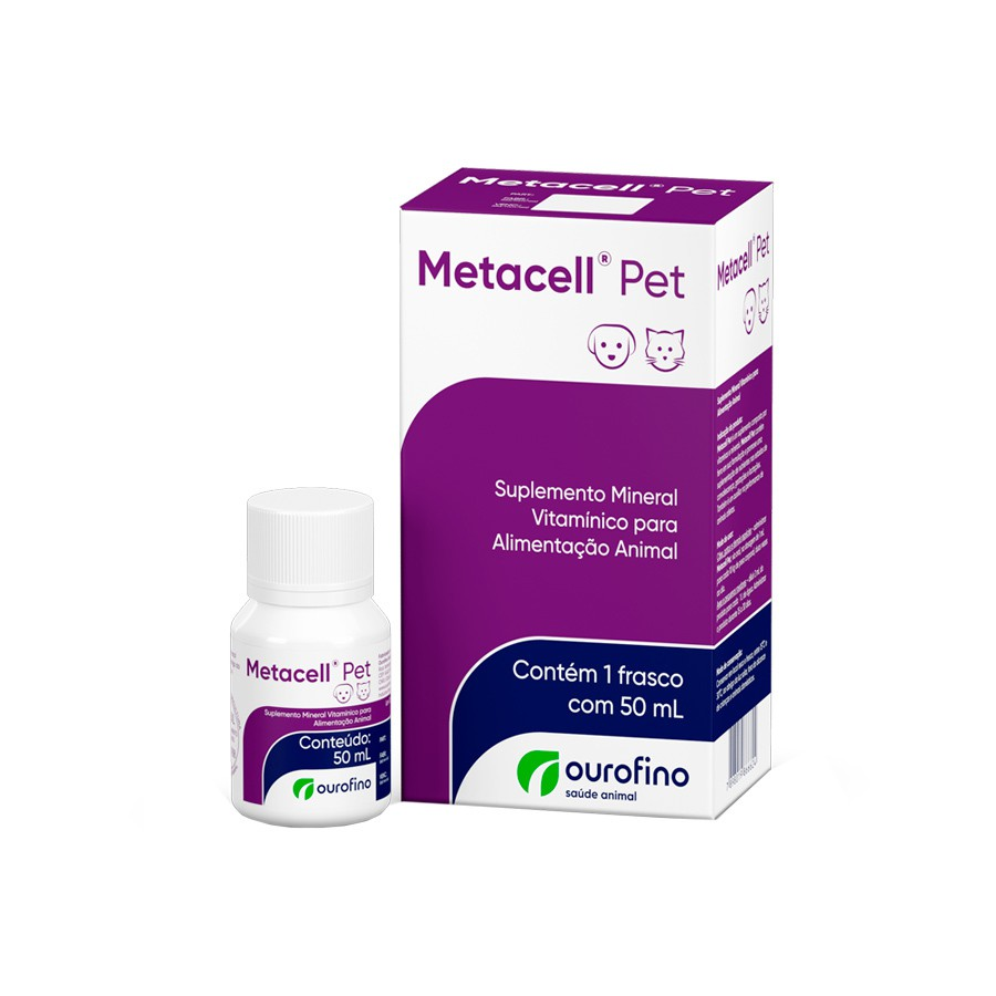 Suplemento ouro fino metacell pet 50ml