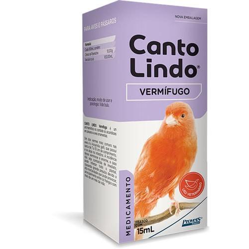 Suplemento provets cantolindo vermífugo para pássaros 15ml