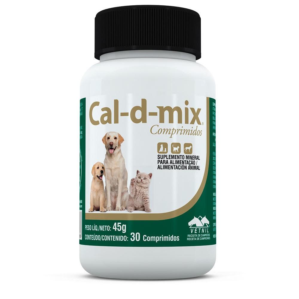 Suplemento vetnil cal-d-mix com 30 comprimidos