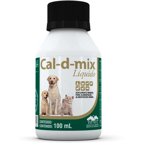 Suplemento vetnil cal-d-mix líquido 100ml