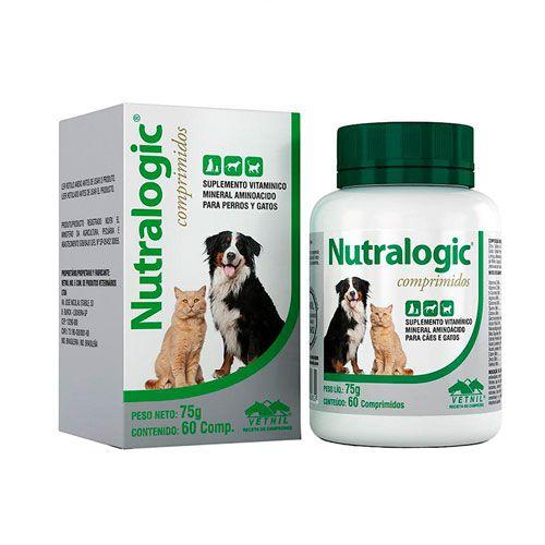 Suplemento vetnil nutralogic para cães e gatos com 60 comprimidos
