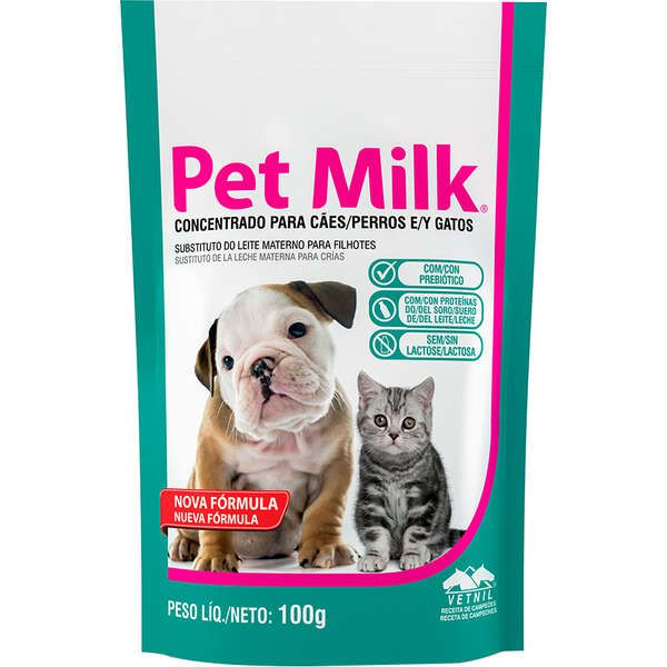 Suplemento Vetnil Substituto do Leite Materno Pet Milk
