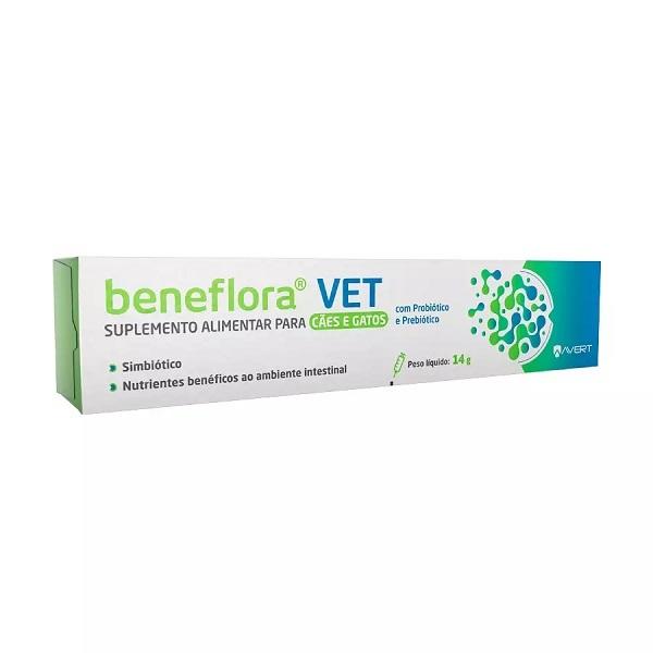 Suplemento vitamínico avert beneflora vet 14g para cães e gatos