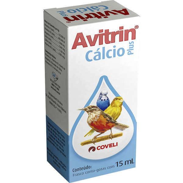 Suplemento vitamínico avitrin cálcio plus para pássaros 15ml