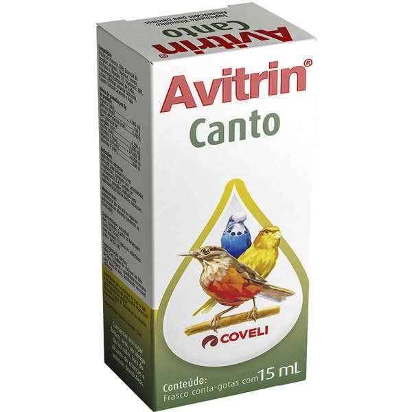 Suplemento vitamínico avitrin canto para pássaros 15ml