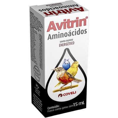 Suplemento vitaminico coveli avitrin aminoácidos para pássaros 15ml