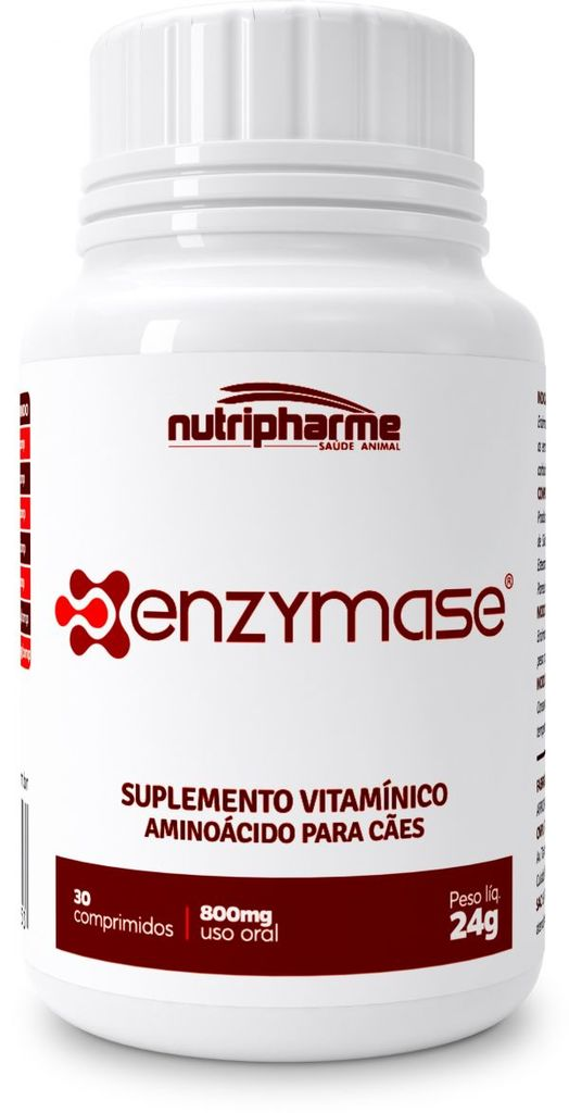 Suplemento vitamínico nutripharme enzymase com 30 comprimidos