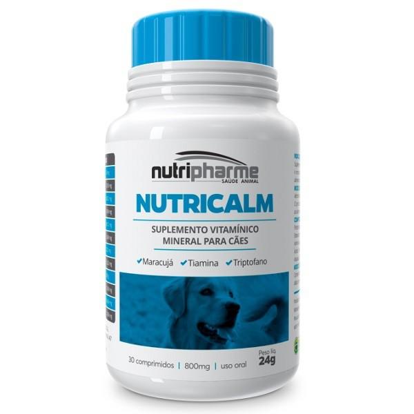 Suplemento vitamínico nutripharme nutricalm para cães com 30 comprimidos