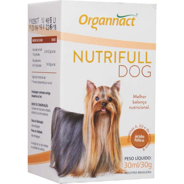 Suplemento Vitamínico Organnact Nutrifull Pet