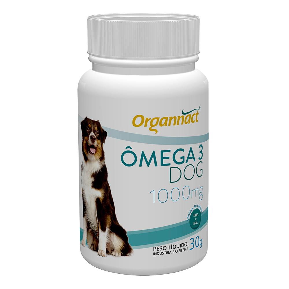 Suplemento vitamínico organnact omega 3 dog 1000 para cães