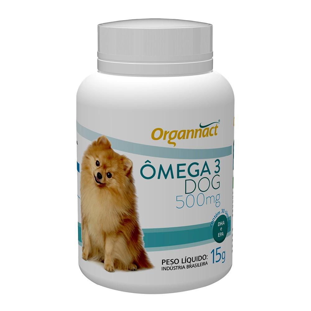 Suplemento vitamínico organnact omega 3 dog 500 para cães