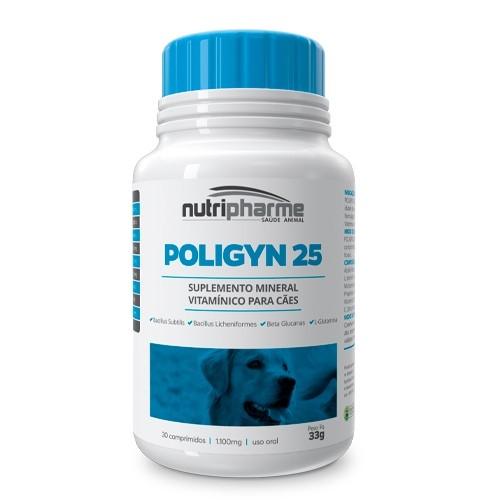 Suplemento vitamínico poligyn 25 para cães