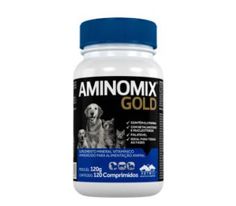 Suplemento vitamínico vetnil aminomix gold comprimidos para cães e gatos com 120 comprimidos
