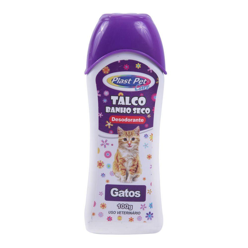 Talco plast pet banho seco gatos 100g