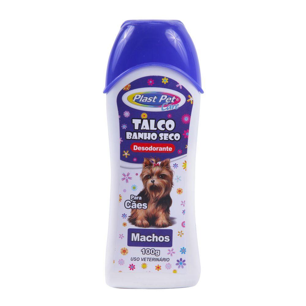 Talco plast pet banho seco macho 100g