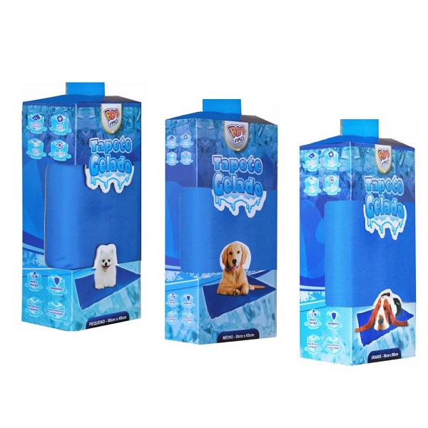 Tapete gelado azul bbb pet
