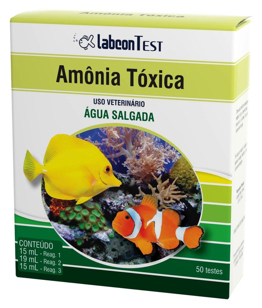 Teste amonia tóxica para água salgada