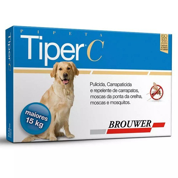 Tiper c brouwer para cães acima de 15kg