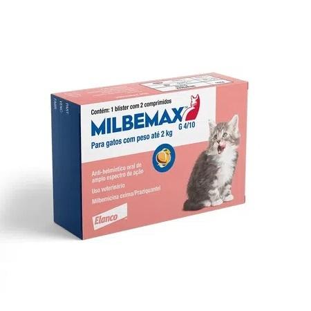 Vermifugo elanco milbemax para gatos até 2kg