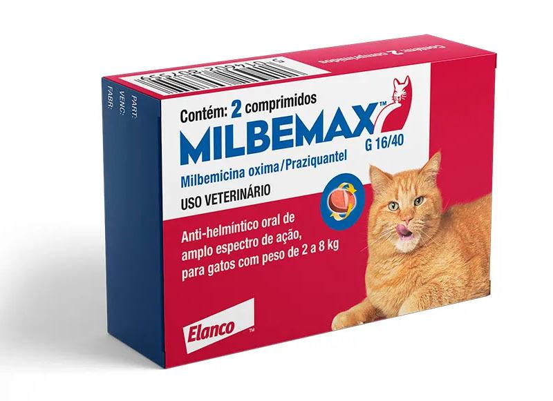 Vermifugo elanco milbemax para gatos de 2 a 8kg