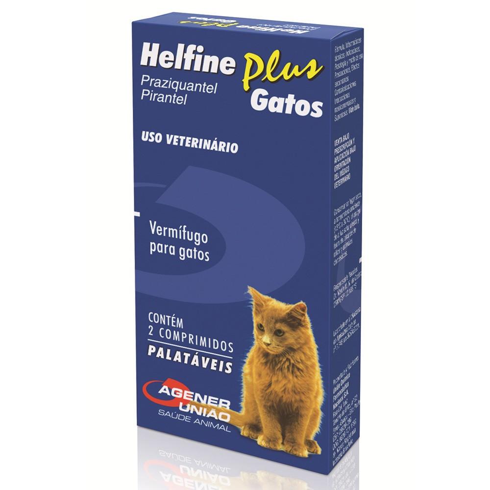 Vermífugo helfine plus para gatos com 2 comprimidos