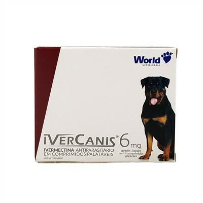 Vermífugo ivercanis 6mg com 4 comprimidos